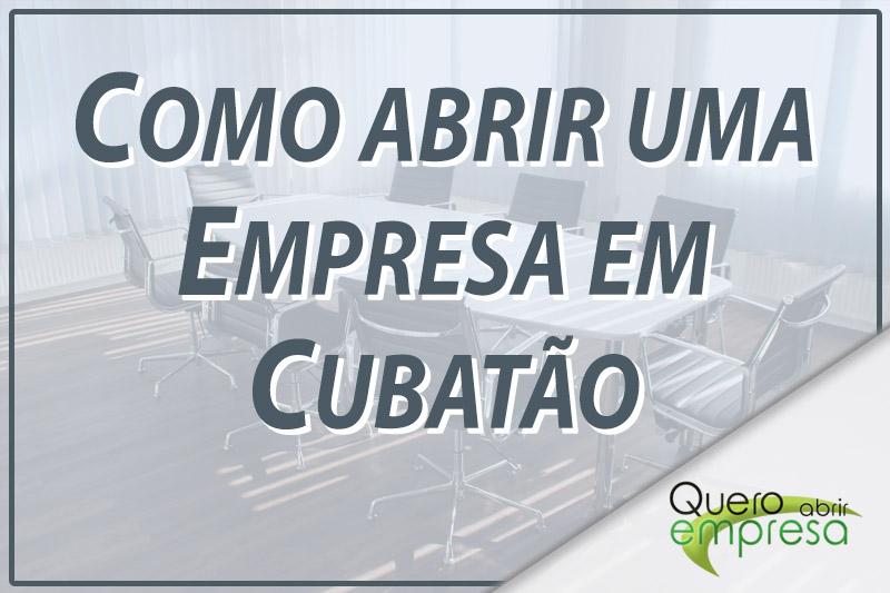 Como abrir uma empresa Cubatão