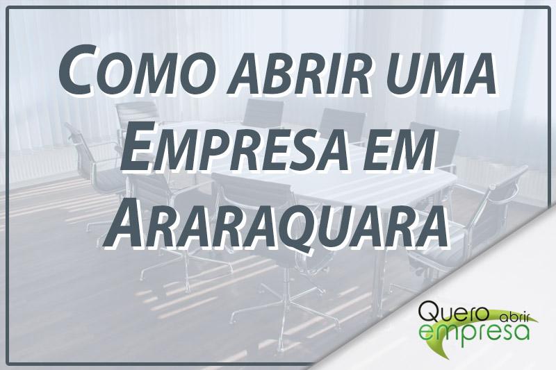 Como abrir uma empresa em Araraquara