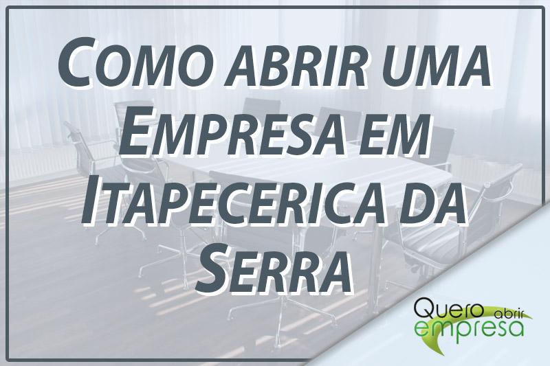 Como abrir uma empresa em Itapecerica da Serra